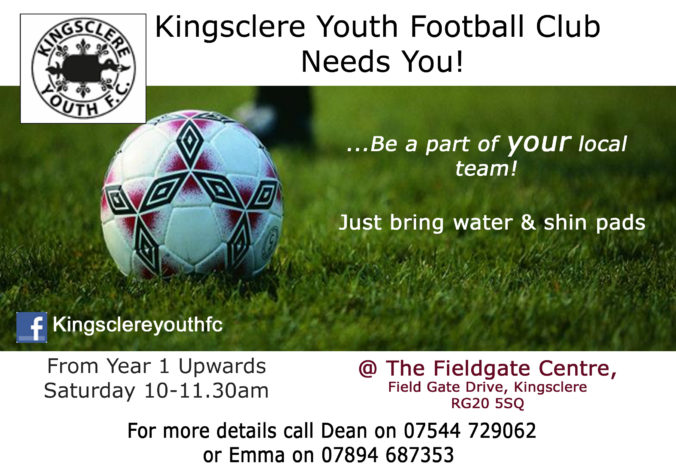 Kingsclere Youth Football Club flyer